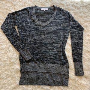 JOHN+JENN Anthropologie black/gray sweater